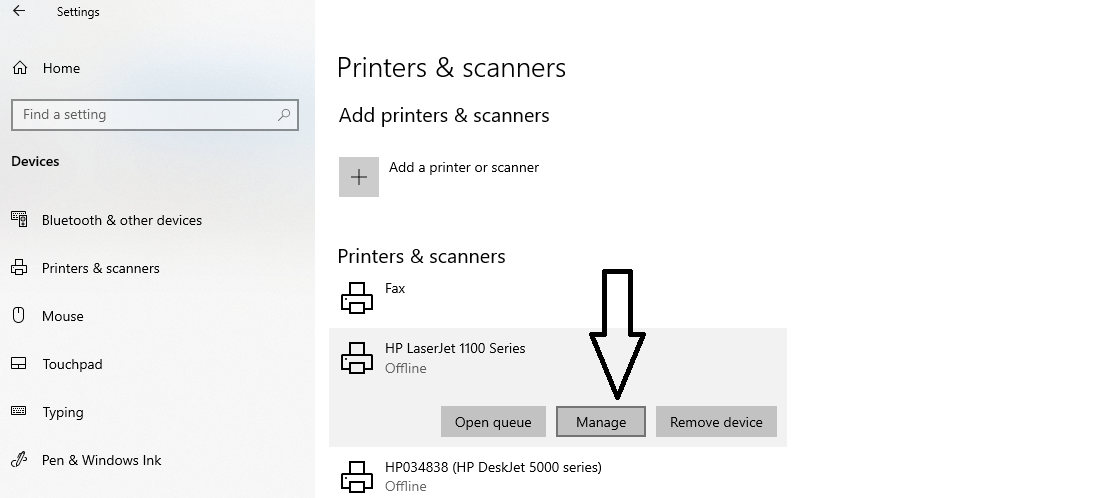 How to print test page in Windows(2)