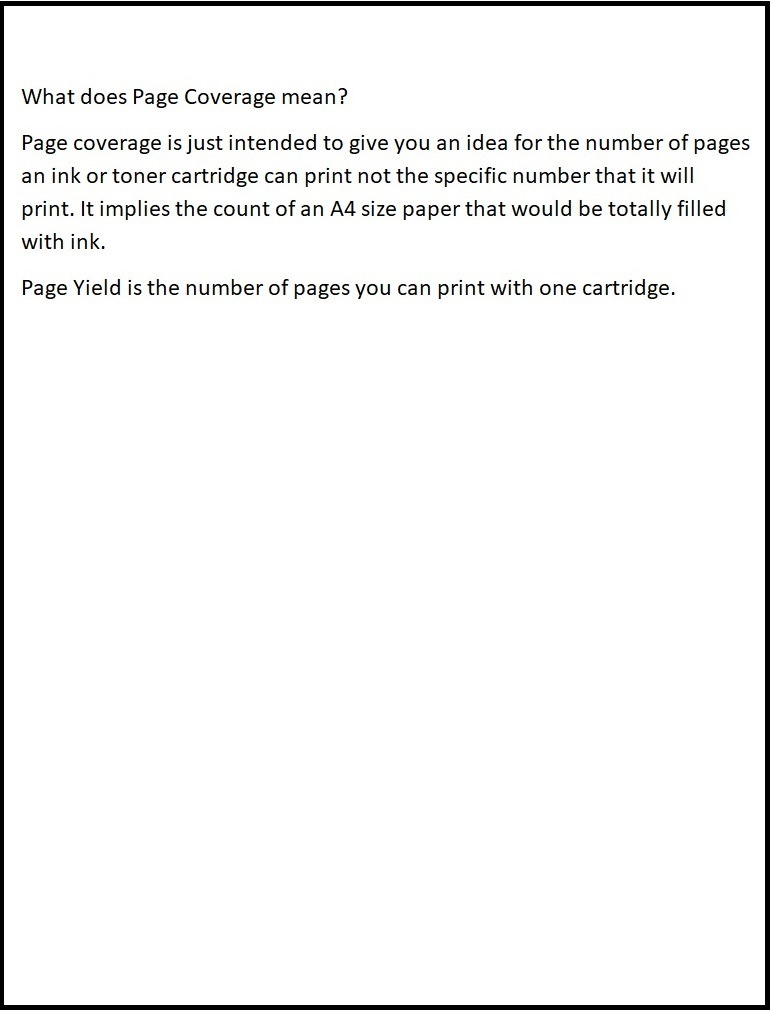 5% Page coverage Example