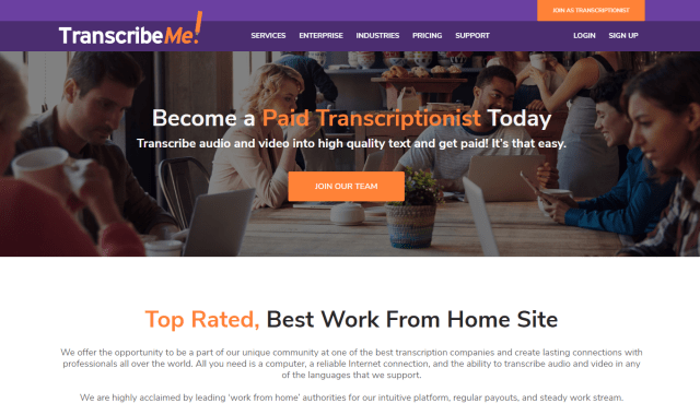 Transcription jobs on TranscribeMe - Online jobs for college students without investment
