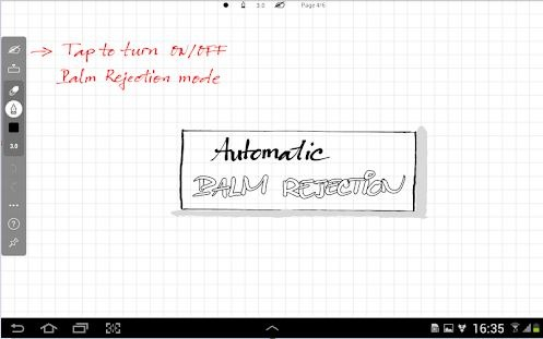 INKredible android app with Palm rejection