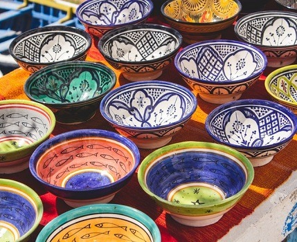 porcelain painted dishes