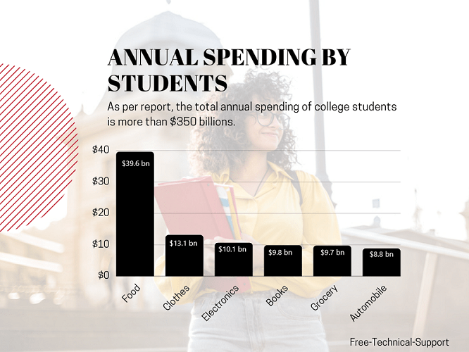 Total annual spending by students