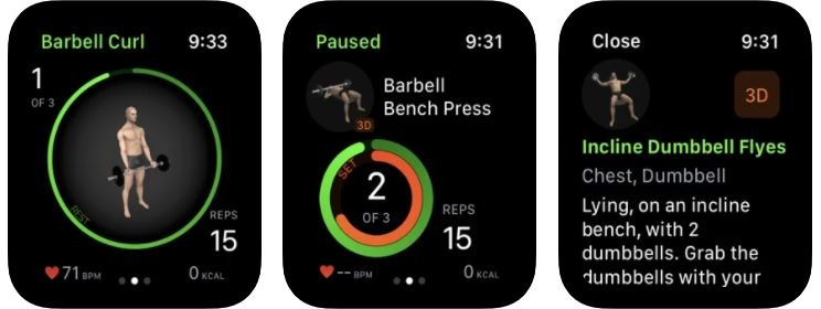 Gymaholic Workout Tracker for Apple Watches