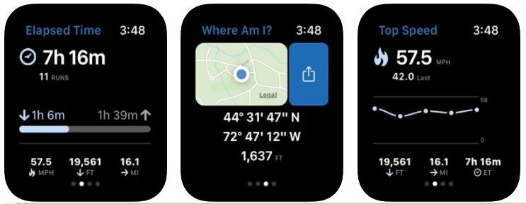 Skiing App for Apple Watch