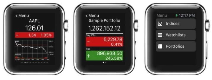Stock Master Apple Watch Application for Stocks & Trades